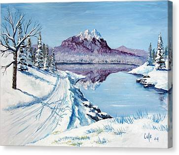 Winter Road Canvas Print by Larry Cole