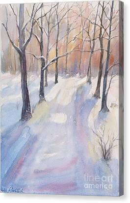 Winter Road Canvas Print by Yohana Knobloch