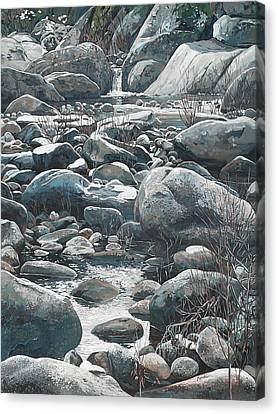 Canvas Print - Winter Rocks by Nadi Spencer