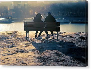 Winter Romance Canvas Print by Stelios Kleanthous