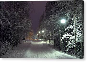 Canvas Print featuring the photograph Winter Scene 6 by Sami Tiainen