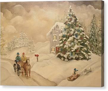Winter Scene Canvas Print by John Stuart Webbstock