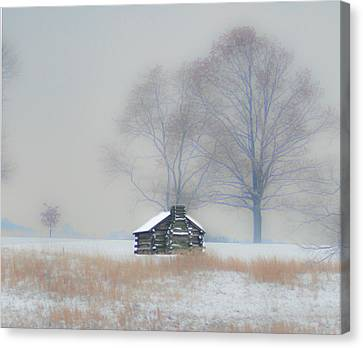 Winter Scene - Valley Forge Canvas Print by Bill Cannon