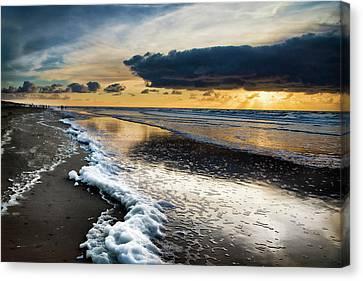 Winter Sea Sunset Canvas Print