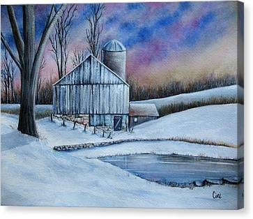 Winter Serenity Canvas Print by Lisa Cini