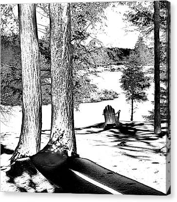 Canvas Print featuring the photograph Winter Shadows by David Patterson