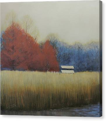 Winter Shed Canvas Print by Cap Pannell
