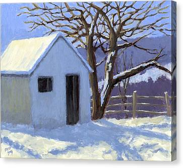Winter Shed Canvas Print by David King
