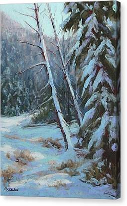 Winter Silence Canvas Print by Debra Mickelson