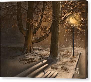 Winter Silence Canvas Print by Veronica Minozzi