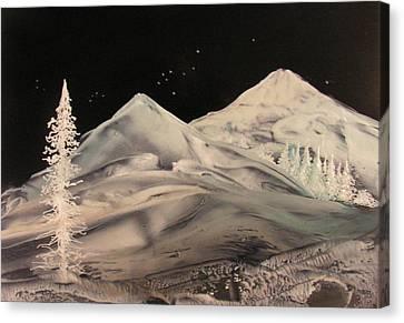 Winter Slumber Canvas Print by John Vandebrooke