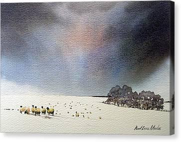 Winter Snow Swaledale Canvas Print by Paul Dene Marlor