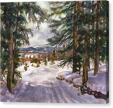 Winter Solace Canvas Print by Anne Gifford