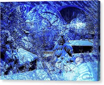 Winter Storm Canvas Print - Winter Solace by Robert Orinski