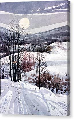 Snowscape Canvas Print - Winter Solstice by Donald Maier