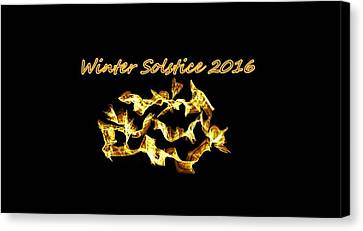Winter Solstice Flame Canvas Print by Aliceann Carlton