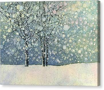Canvas Print featuring the painting Winter Sonnet by Hailey E Herrera