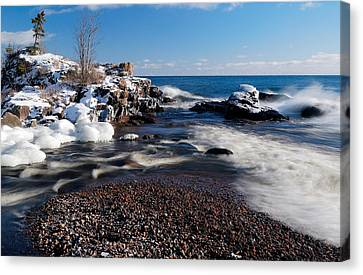 Winter Landscapes Canvas Print - Winter Splash by Sebastian Musial