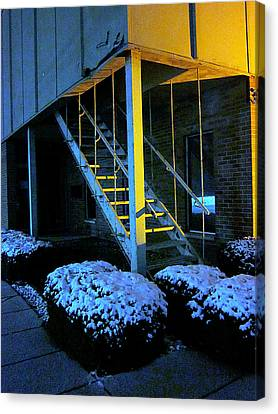 Canvas Print - Winter Stairs by Guy Ricketts