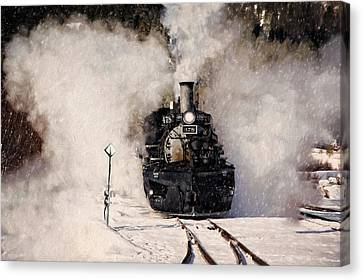Winter Steam At Rockwood Colorado Canvas Print by Ken Smith