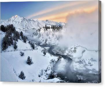 Winter Steam  Canvas Print by Nicki Frates