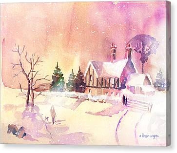 Winter Stroll Canvas Print by Arline Wagner