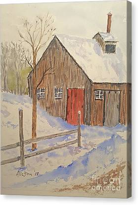 Canvas Print - Winter Sugar House by Stanton Allaben