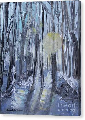 Canvas Print featuring the painting Winter Sun by Robin Maria Pedrero