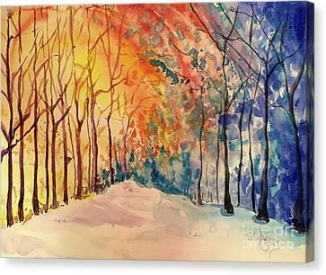 Canvas Print - Winter Sun by Tina Sheppard