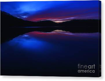 Winter Sundown Radiance Canvas Print