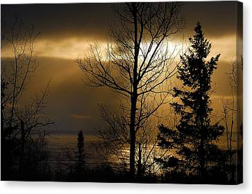 Winter Sunrise 1 Canvas Print by Sebastian Musial