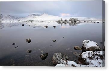 Canvas Print featuring the photograph Winter Sunrise Glencoe by Grant Glendinning