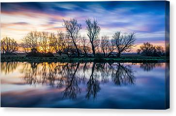 Winter Sunrise Over The Ouse Canvas Print