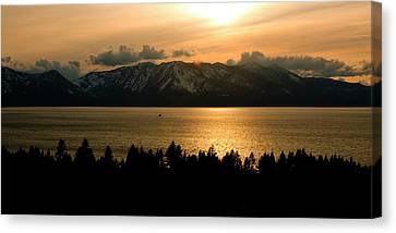 Winter Sunset At Lake Tahoe Canvas Print