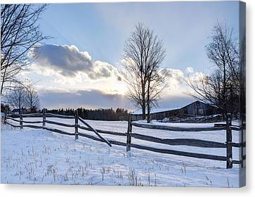 Winter Sunset Canvas Print
