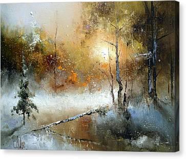 Winter Sunset Canvas Print by Igor Medvedev