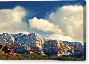 Winter Sunset In Sedona Canvas Print by Dan Turner