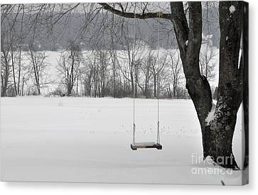 Canvas Print featuring the photograph Winter Swing by John Black