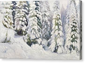 Winter Tale Canvas Print by Aleksandr Alekseevich Borisov