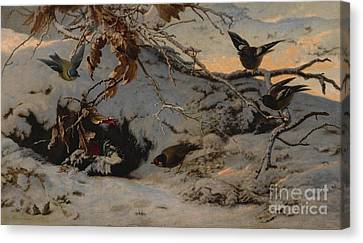 Winter Canvas Print by MotionAge Designs