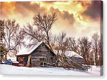 Winter Storm Canvas Print - Winter Thoughts 2 - Paint by Steve Harrington