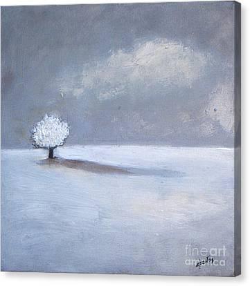 Winter Tree Shadow Canvas Print by Vesna Antic