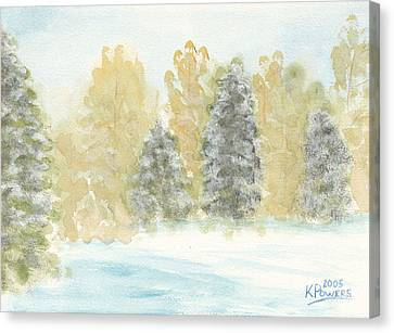 Winter Trees Canvas Print by Ken Powers