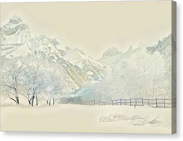 Bare Trees Canvas Print - Winter Treescape by Russ Harris