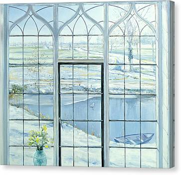 Winter Triptych Canvas Print by Timothy Easton