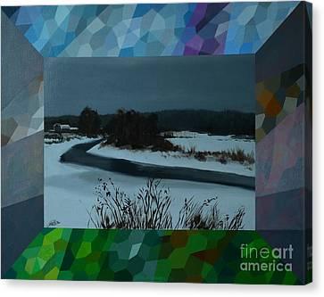 Winter Twilight Canvas Print by Jukka Nopsanen