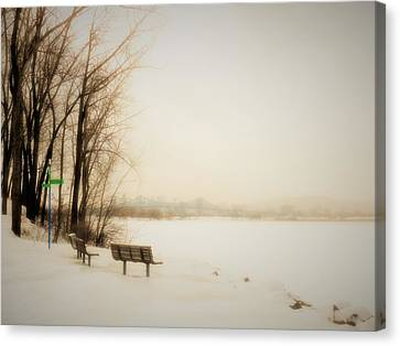Winter View Over Montreal Canvas Print