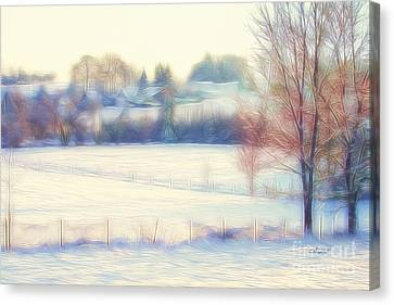 Winter Village Canvas Print by Jutta Maria Pusl