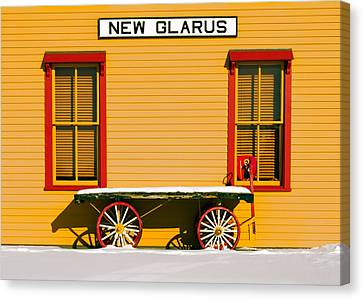 Winter Wagon Canvas Print by Todd Klassy