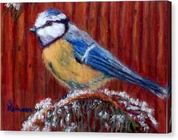 Winter Wait Canvas Print by Sandy Hemmer